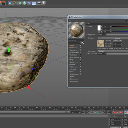 Small Sea Rock with Holes. Render 16