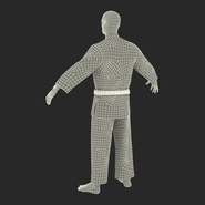 Karate Fighter Rigged for Cinema 4D. Preview 53