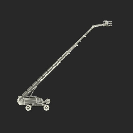 Telescopic Boom Lift Generic 4 Pose 2. Render 4
