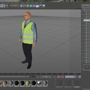 Construction Architect in Yellow Safety Jacket Standing Pose. Preview 20