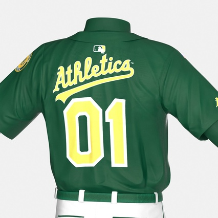 Baseball Player Outfit Athletics 3. Render 23