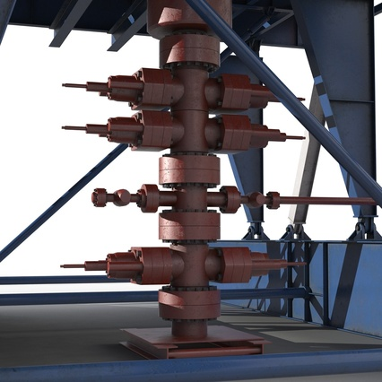 Fracking Gas Platform. Render 25