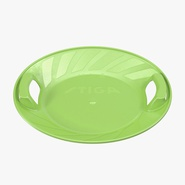 Sledge Sliding Dish Snow Round Green