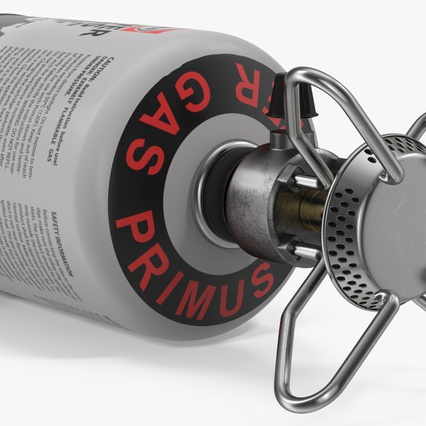 Gas Cylinder with Camping Stove. Render 11