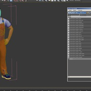 Worker In Orange Overalls Standing Pose. Preview 20