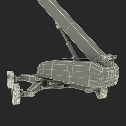 Telescopic Boom Lift Generic 4 Pose 2. Render 83