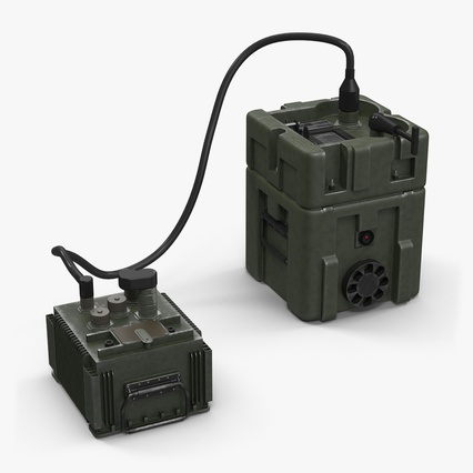 TOW Missile Guidance Set and Battery. Render 2