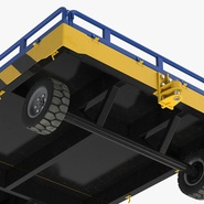 Airport Transport Trailer Low Bed Platform Rigged. Preview 16