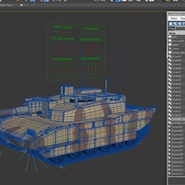 French Army Tank AMX-56 Leclerc Rigged. Preview 26