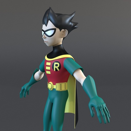 Robin Cartoon Character Rigged for Maya. Render 22