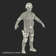 SWAT Man Mediterranean Rigged for Cinema 4D. Preview 45