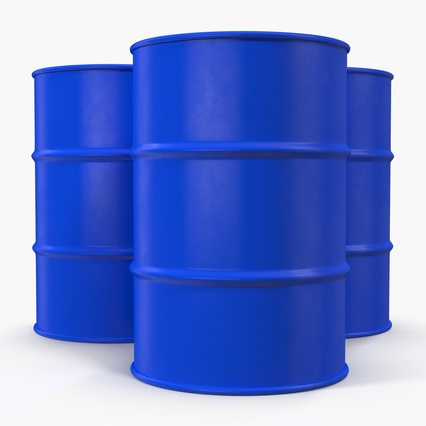 Oil Drum 200l Blue. Render 8