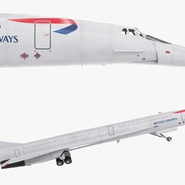 Concorde Supersonic Passenger Jet Airliner British Airways Rigged. Preview 17