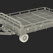 Airport Transport Trailer Low Bed Platform Rigged. Preview 5