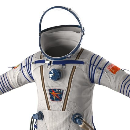 Russian Space Suit Sokol KV2 Rigged. Render 29