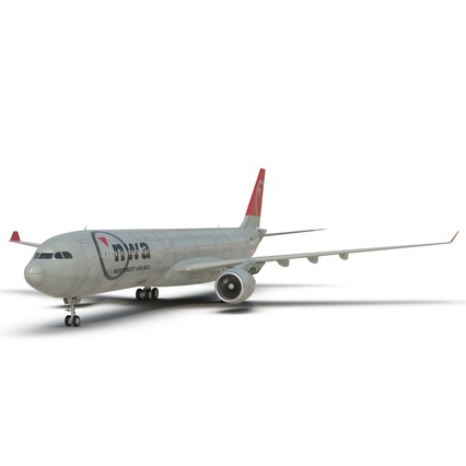 Jet Airliner Airbus A330-300 Northwest Airlines Rigged. Render 30