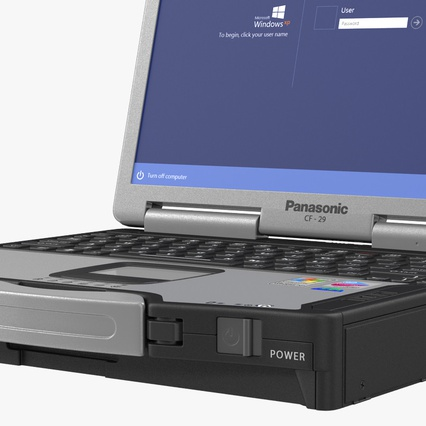 Panasonic Toughbook. Render 17