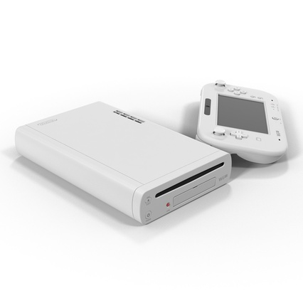 Nintendo Wii U Set White. Render 8