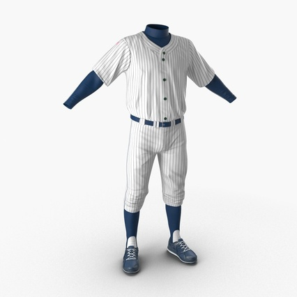 Baseball Player Outfit Generic 8. Render 2