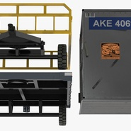 Airport Luggage Trolley Baggage Trailer with Container. Preview 22