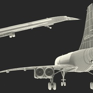 Concorde Supersonic Passenger Jet Airliner British Airways Rigged. Preview 29