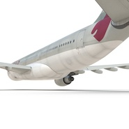 Jet Airliner Airbus A330-200 Qatar. Preview 36