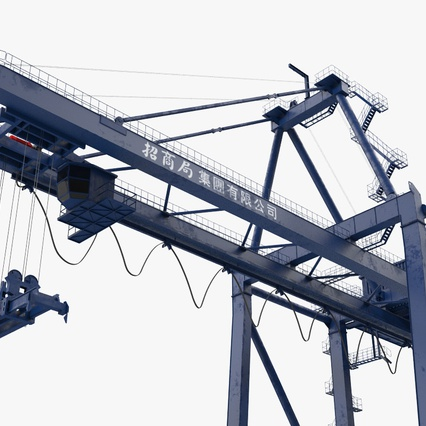 Container Crane Blue. Render 15