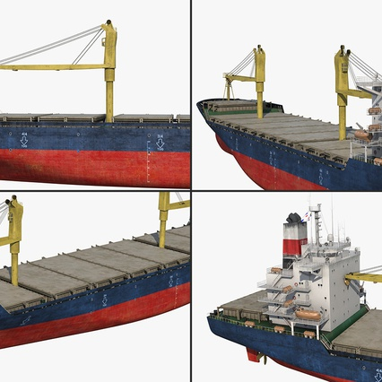 Sea Cargo Ship Generic. Render 15