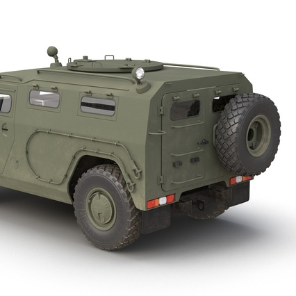 Russian Mobility Vehicle GAZ Tigr M Rigged. Render 31