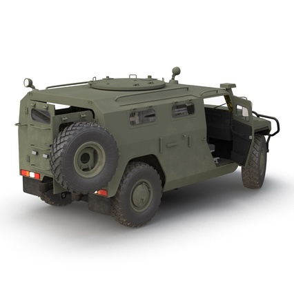 Russian Mobility Vehicle GAZ Tigr M Rigged. Render 14
