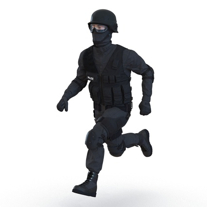 SWAT Man Mediterranean Rigged for Maya. Render 8