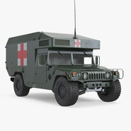 Maxi Ambulance Military Car HMMWV m997 Green