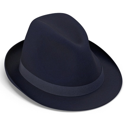 Fedora Hat Blue. Render 12