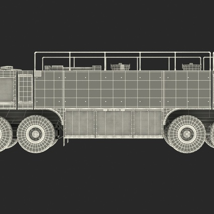 Oshkosh Striker 4500 Aircraft Rescue and Firefighting Vehicle Rigged. Render 34