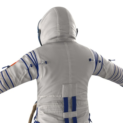 Russian Astronaut Wearing Space Suit Sokol KV2 Rigged for Maya. Render 24