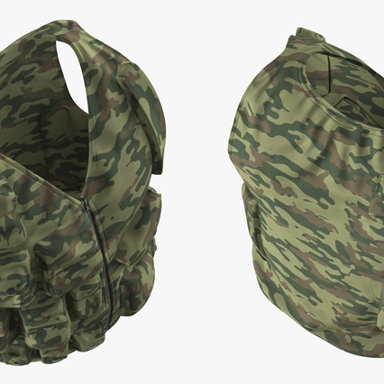 Military Camouflage Vest. Render 9