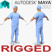 Male Surgeon Asian Rigged 2 for Maya