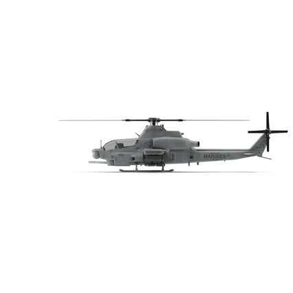 Attack Helicopter Bell AH 1Z Viper Rigged. Render 5