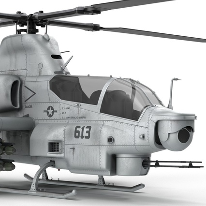 Attack Helicopter Bell AH 1Z Viper Rigged. Render 45