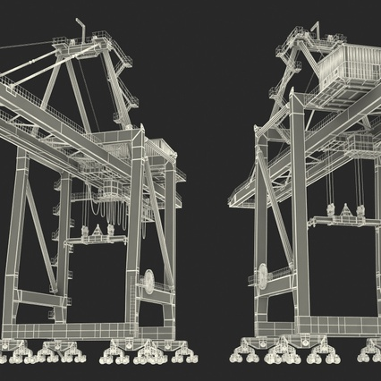 Container Crane Blue. Render 40