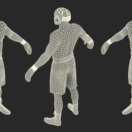 African American Boxer Rigged for Cinema 4D. Render 29