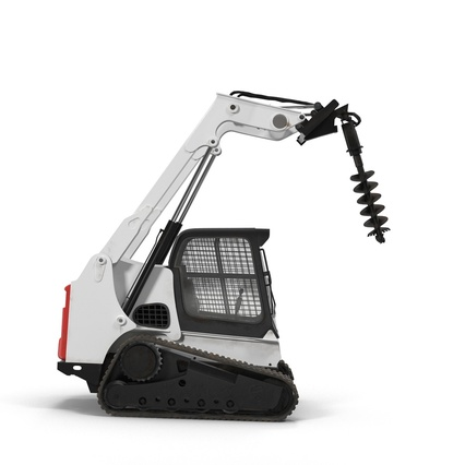 Compact Tracked Loader with Auger. Render 22