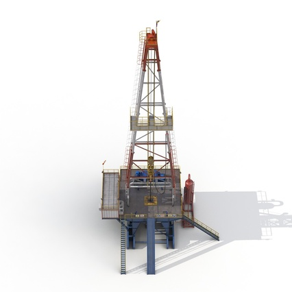 Fracking Gas Platform. Render 13