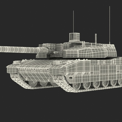 French Army Tank AMX-56 Leclerc Rigged. Render 5