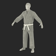 Karate Fighter Rigged for Cinema 4D. Preview 4
