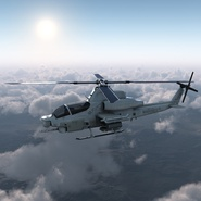 Attack Helicopter Bell AH 1Z Viper Rigged. Preview 9