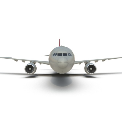Jet Airliner Airbus A330-300 Northwest Airlines Rigged. Render 35