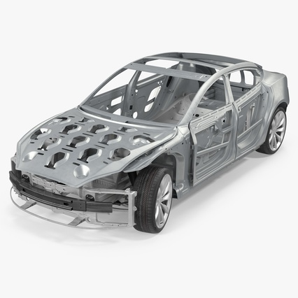Tesla Model S Frame and Chassis. Render 2