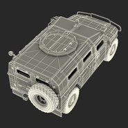 Russian Mobility Vehicle GAZ Tigr M Rigged. Preview 77