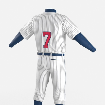 Baseball Player Outfit Generic 8. Render 18